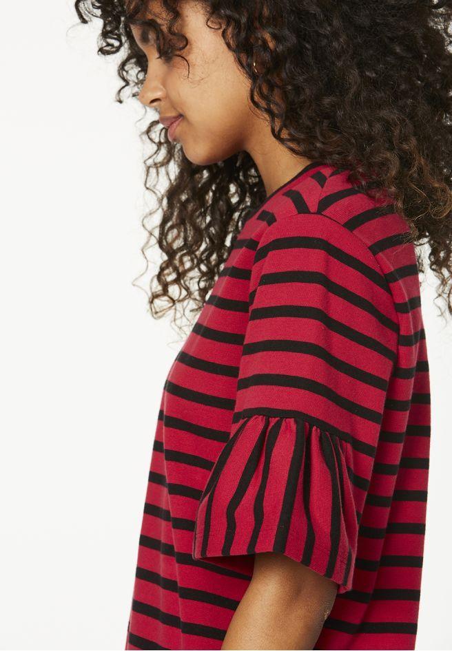 ARMEDANGELS | Lis Stripes Kleider Sweat Streifen - cherry ...