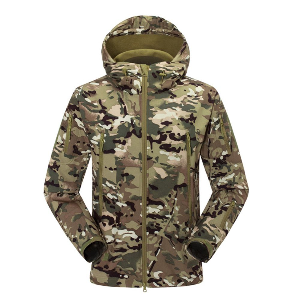 Sports & Entertainment New Waterproof Military Tactical Combat Softshell Jacket Outdoor Camping Hiking Camouflage Hoodie Coat Camping & Hiking