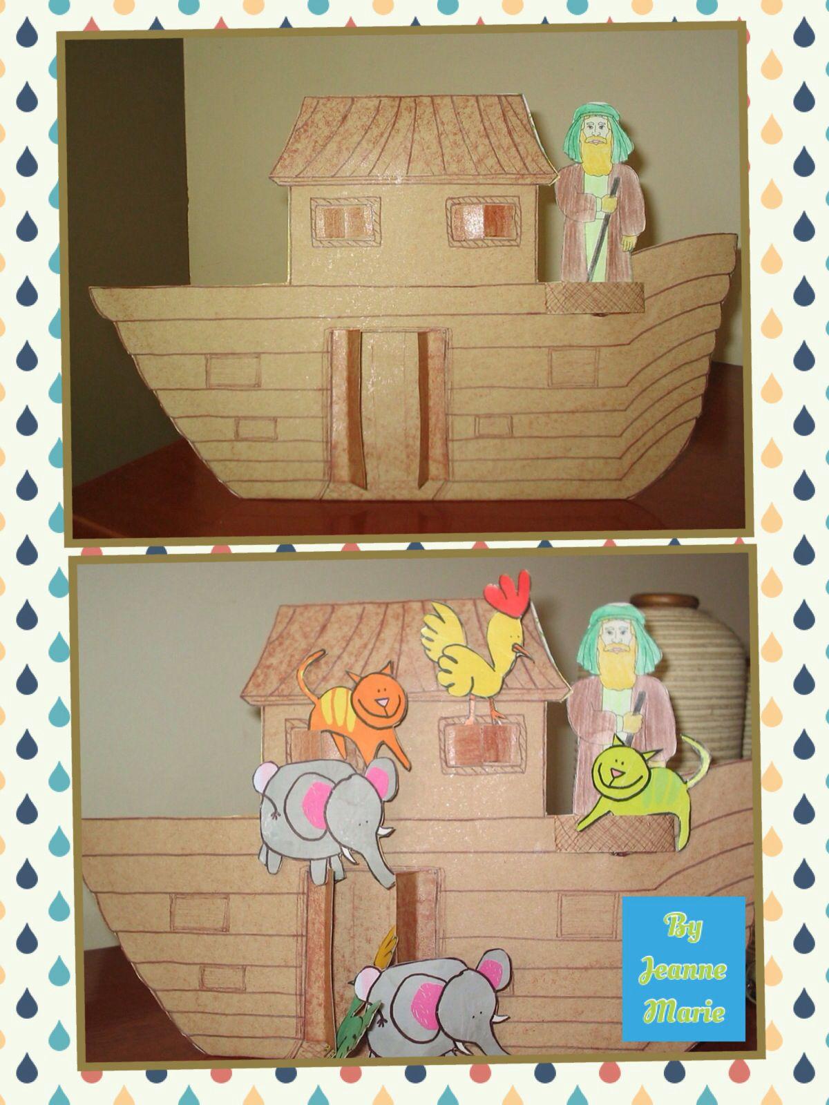 A Arca De Noe Feita De Papelao E Imagens Retiradas Da Internet