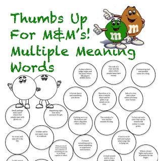 Multiple Meaning word pairs - have them color the matching one the ...
