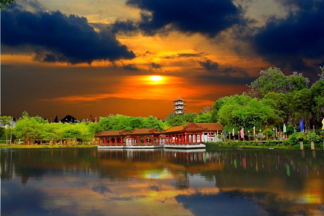 SINGAPORE Chinese Garden Sunset | Garden | Pinterest | Chinese ...