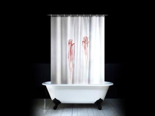Psycho Shower Curtain Bleeding Hands Cool Shower Curtains