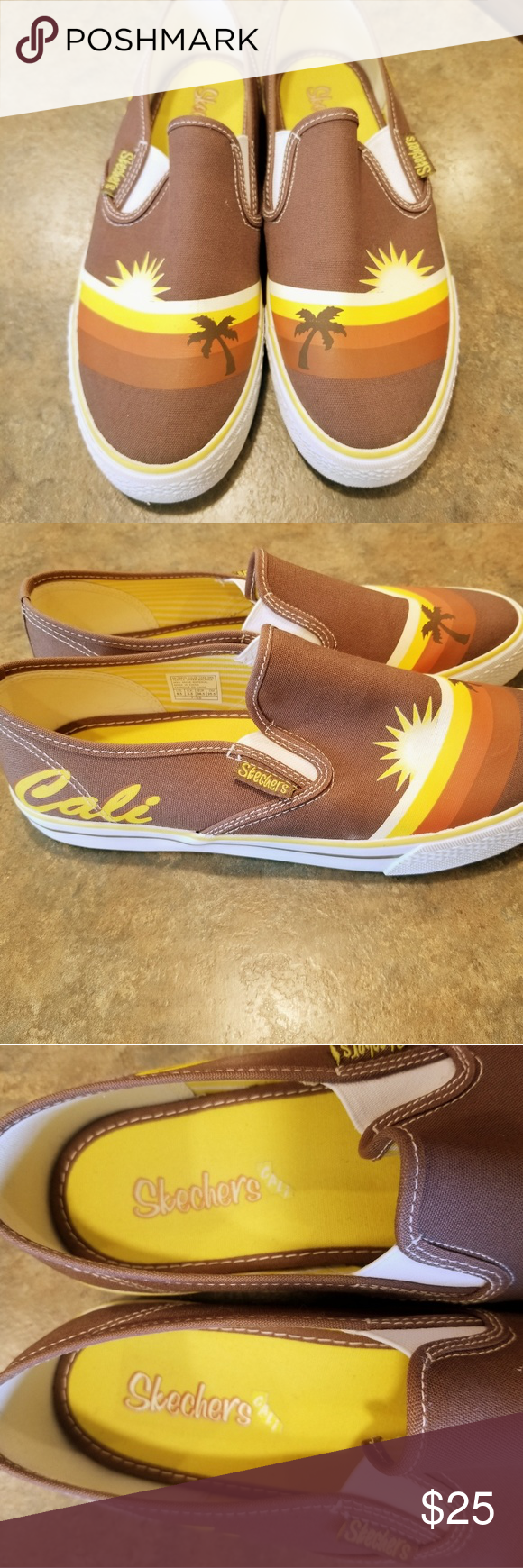 Skechers Cali Slip Ons With Images Skechers Slip On Skechers