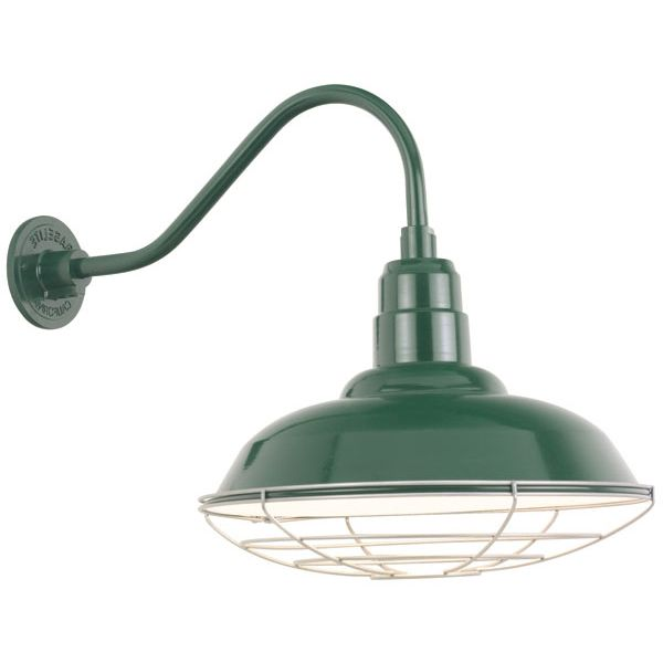 Booth Light In Coppertone Commercial Warehouse Gooseneck Shade