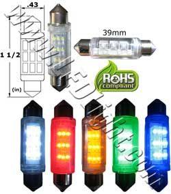 Festoon Super Bright Square 9 Led Light 1 1 2 Inches 39 Mm 12 Vdc Led Lights Bright Led Lights Festoon