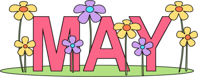 Image result for month at a glance May clipart