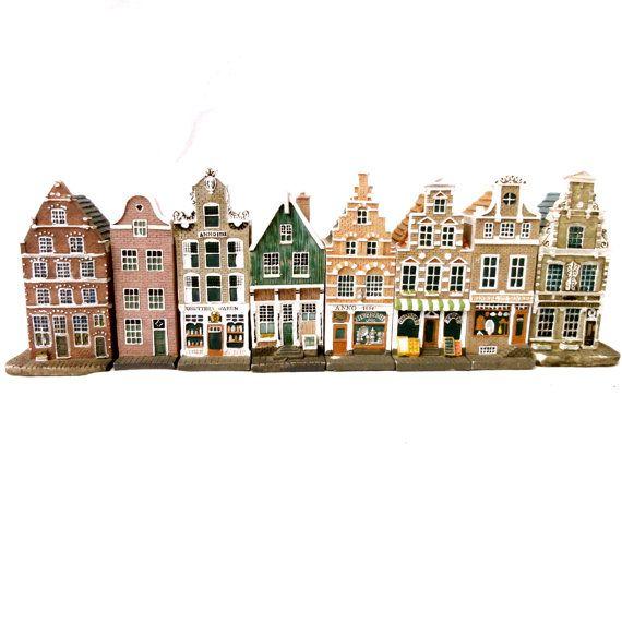 Vintage Miniature Houses, Dutch Doll Houses, Amsterdam