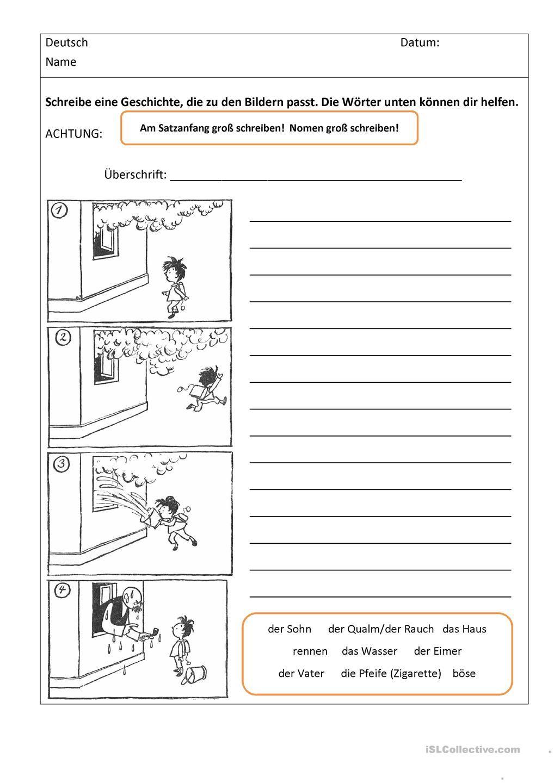 Bildergeschichten Mit Worthilfen Bildergeschichten Grundschule Deutsch Bildgeschichte Volksschule