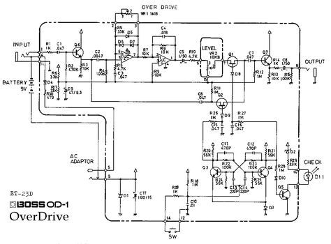 Stupendous Boss Od 1 Overdrive Pedal Schematic Diagram Electrical Overdrive Wiring 101 Nizathateforg