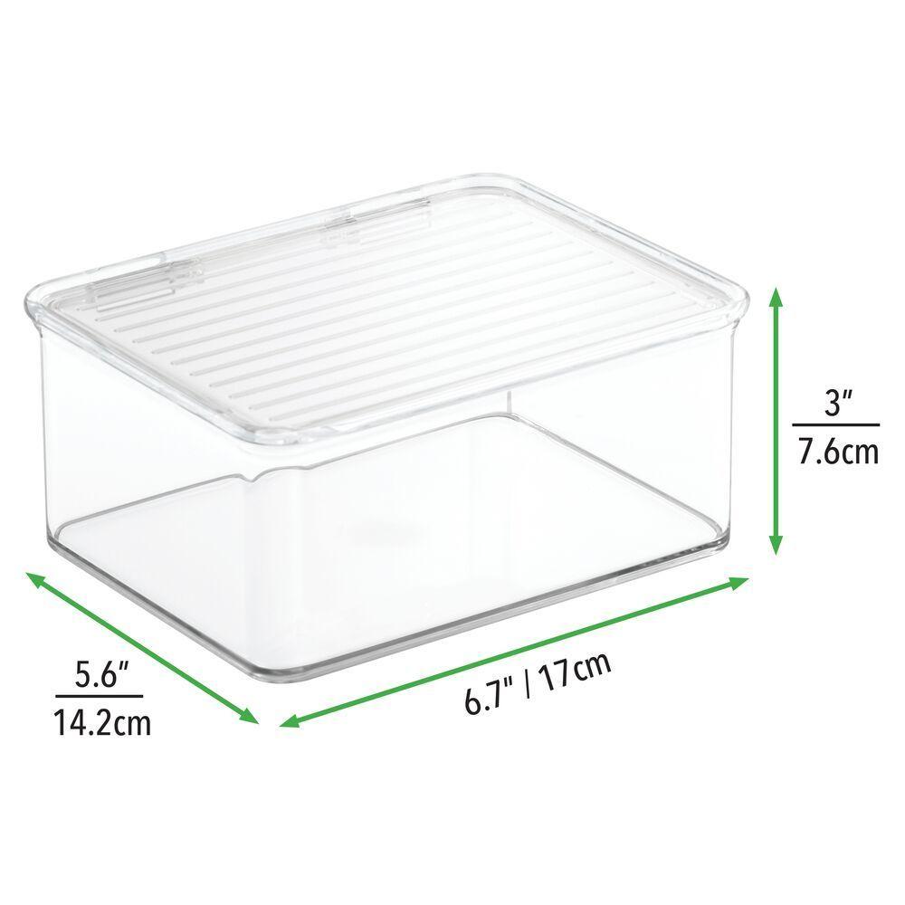 Stackable Plastic Bath Vanity Countertop Storage Organizer Box