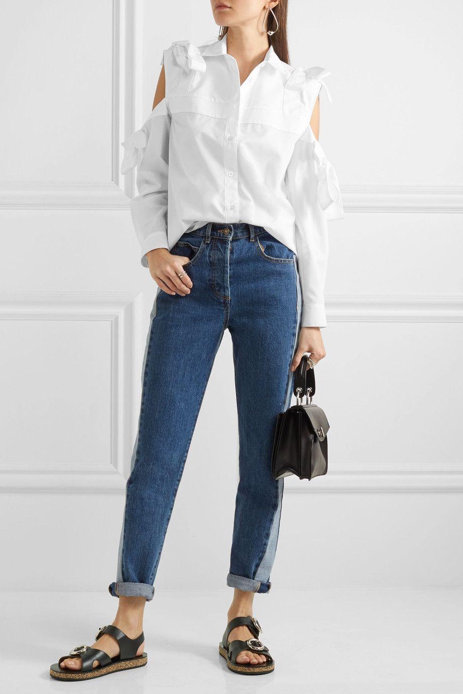 Paul & Joe   Cold-shoulder cotton shirt   NET-A-PORTER.COM