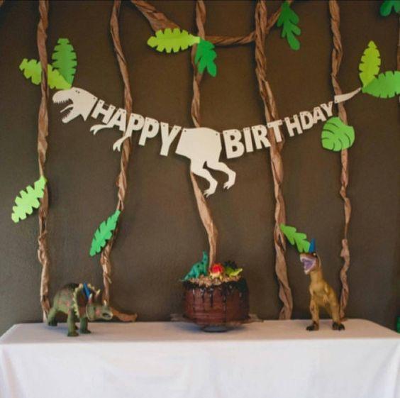 Jurassic Park Birthday Banner, Dinosaur Birthday, Dinosaur