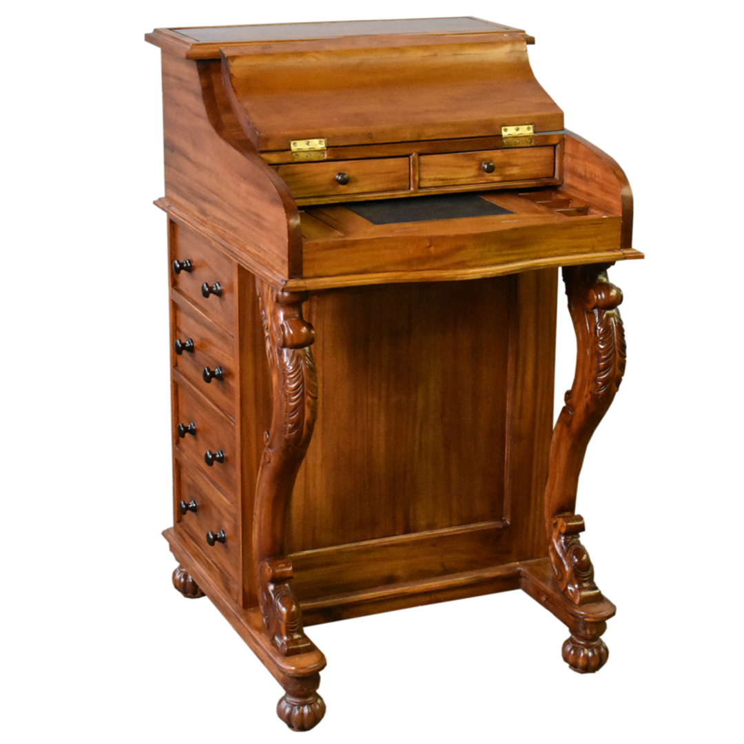 Legacy Mahogany Wood Captain S Desk Light Brown Walnut In 2020 Victorian Style Furniture Desk Light Winsome Wood