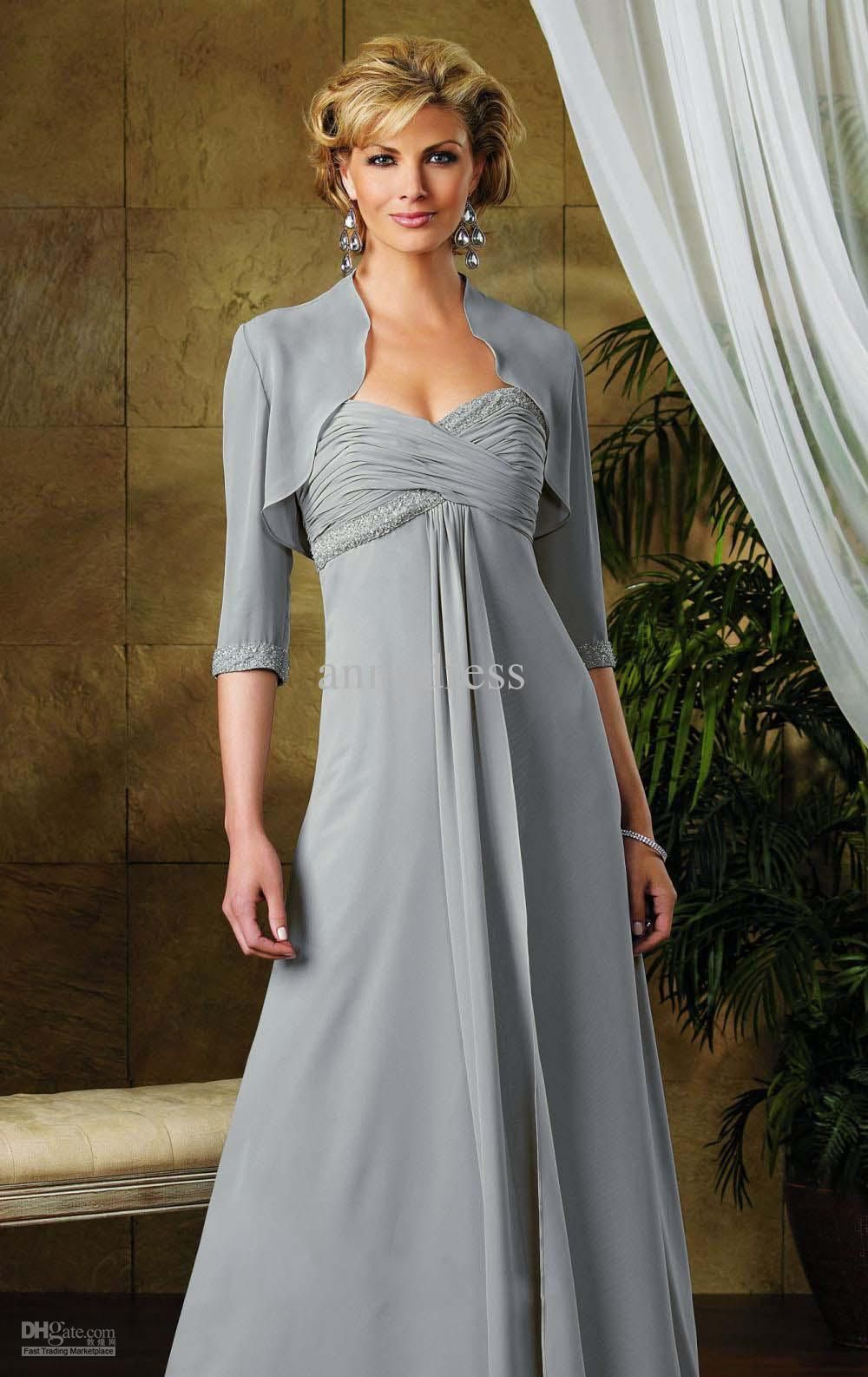 d2b74c47b7 Wholesale A-line Sweetheart Ruched and Beaded Bodice Floor-length Chiffon  Mother of Bride Dress Evening Dress