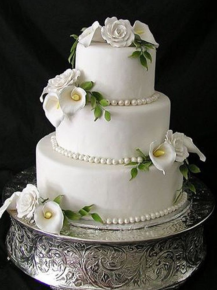 22 round silver wedding cake stand plateau for weddings
