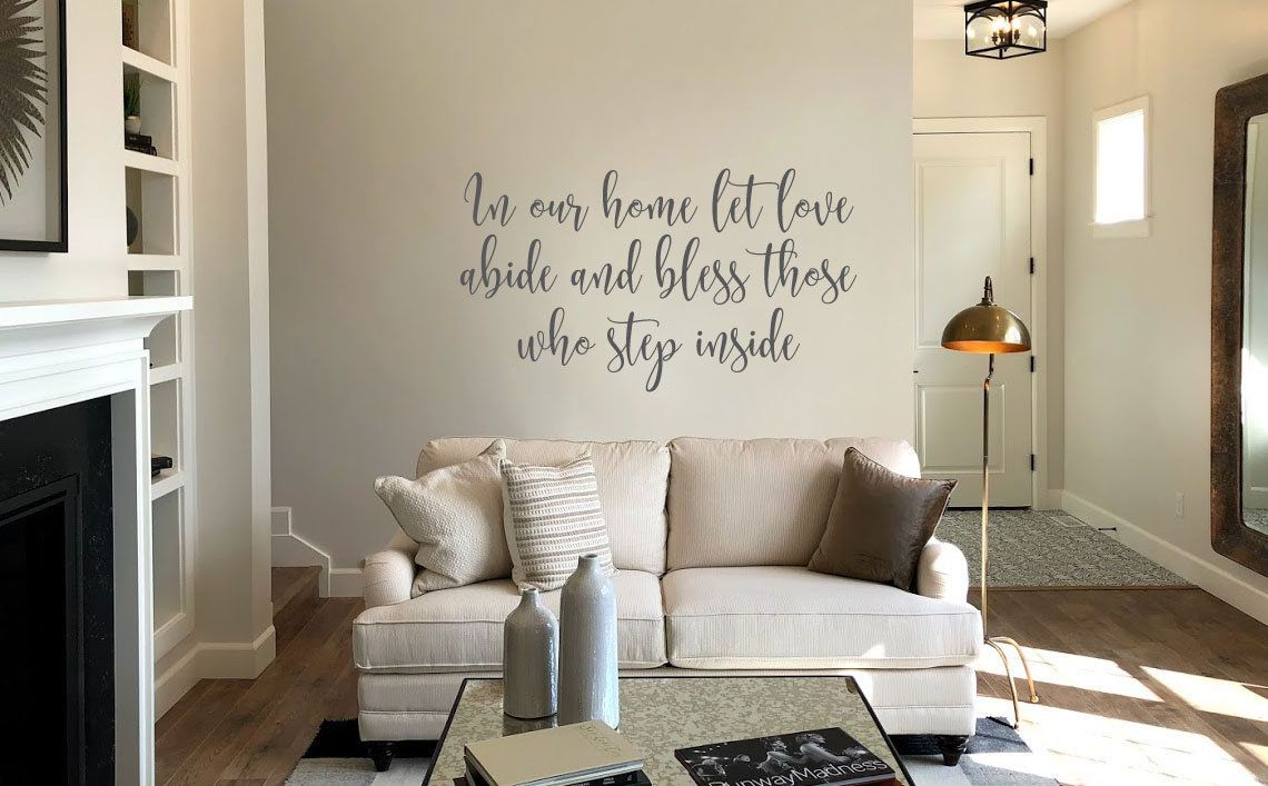 Extra Large Wall Decal In Our Home Let Love Abide And Bless