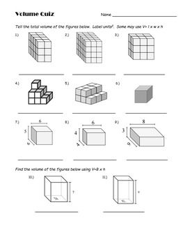 5th grade volume quiz equation students and activities. Black Bedroom Furniture Sets. Home Design Ideas
