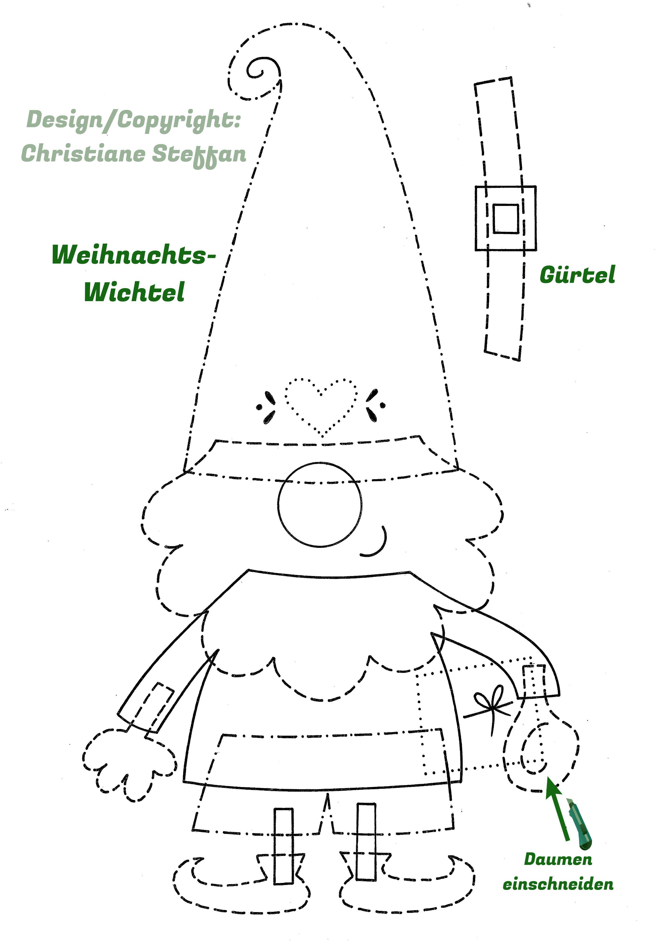 Wichtel Schablone Zum Download Daskochrezept 9