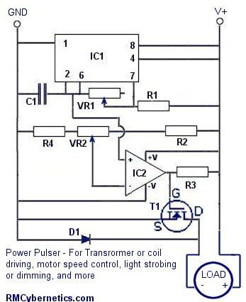 DIY Homemade Power Pulse Controller - RMCybernetics | electronics