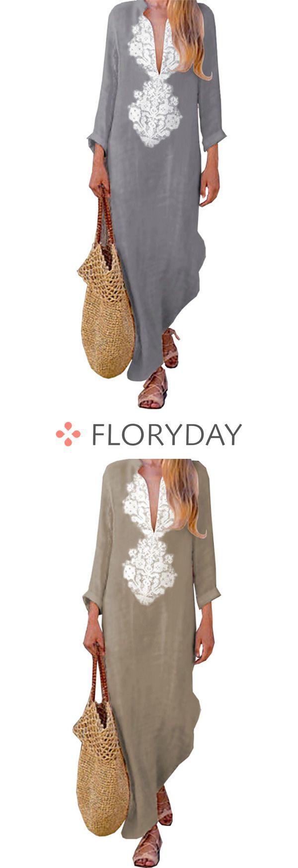 Floral long sleeve maxi shift dress floral dress floral long