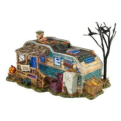 Dept 56 Halloween Village Lot 16 Crystal Lake Scary Lit Trailer Home 4020230 NEW | eBay