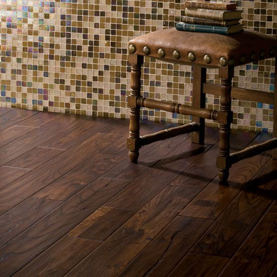 Nope, this isn't wood....it is Tile. Great option for people with animals  but want the look of wood floors. This is from Daltile. - Wood Tile Floor Bathroom Remodel Pinterest Reclaimed Wood