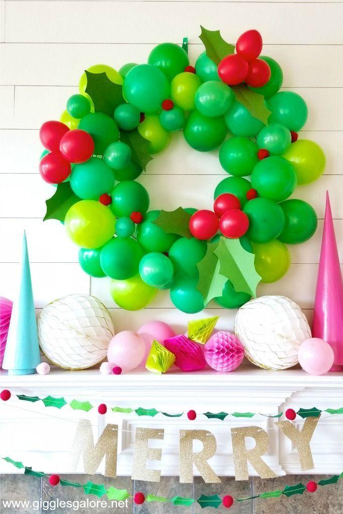 140 Christmas Balloon Decor Ideas Christmas Balloons Balloons Christmas Balloon Decorations