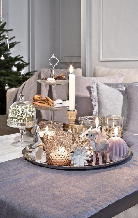 so funktioniert der look cozy country christmas ein muss f r diesen look sind viele kerzen. Black Bedroom Furniture Sets. Home Design Ideas