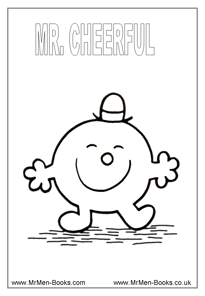 Mr Men Colouring Pages Mr Cheerful Coloring Sheets Mr