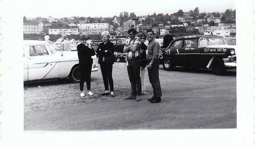 Drag racing, British Columbia, 1966.