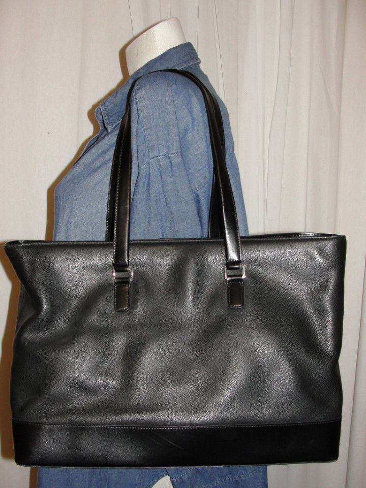 Wilsons Leather Pelle Studio Tote Satchel Computer Handbag Carryall Purse Padded Wilsonsleatherpellestudio Totespers
