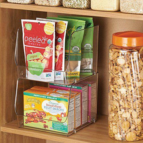 Amazon.com: MDesign Stacking Organizer Bins For Kitchen