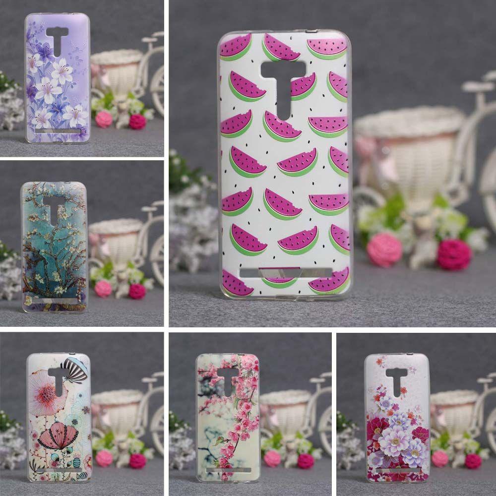 Luxury 3d rilievi dipinti copertura posteriore del silicone case per asus zenfone selfie zd551kl casse del telefono tpu cover per asus ZD551KL