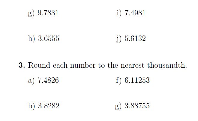 Rounding numbers: A worksheet on rounding numbers to the ...