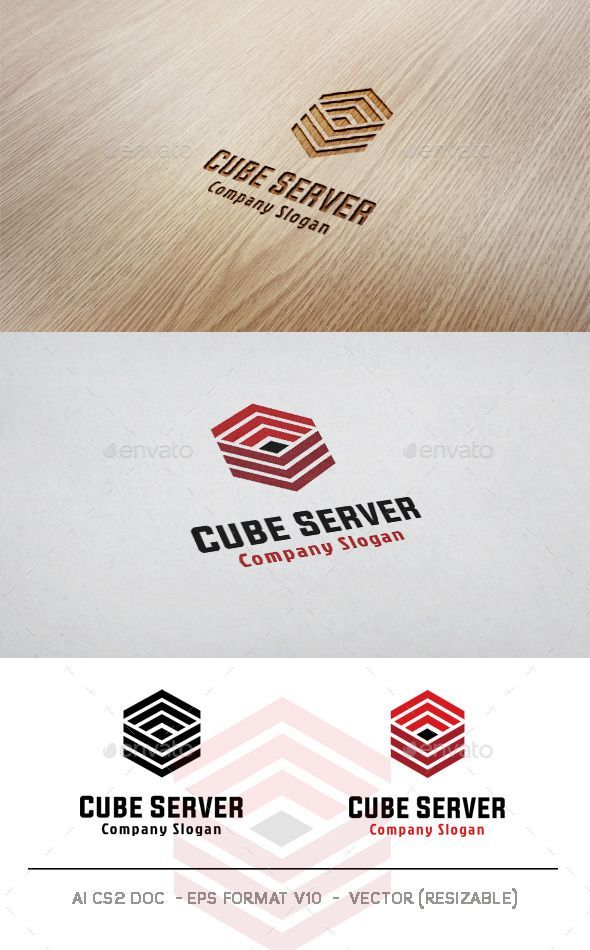 cube server logo transparent png studio tech available here