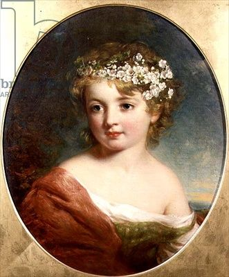 Portrait of a Young Girl, Baxter, Charles (1809-79) / Chenil Galleries, London, UK / The Bridgeman Art Library
