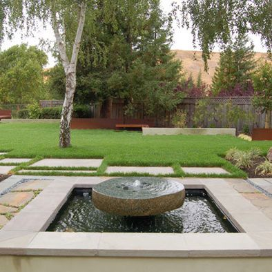 Modern Landscape Fountain Design Pictures Remodel Decor And
