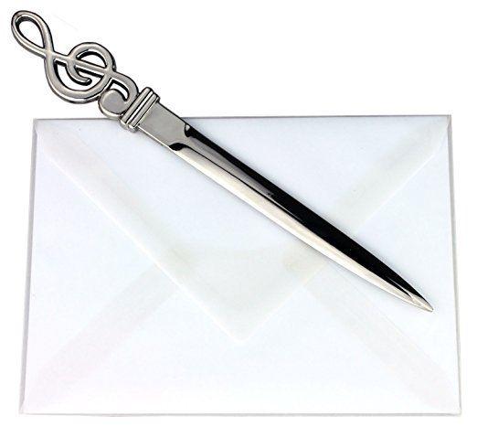 brieföffner metall mit violinschlüssel  notenschlüssel
