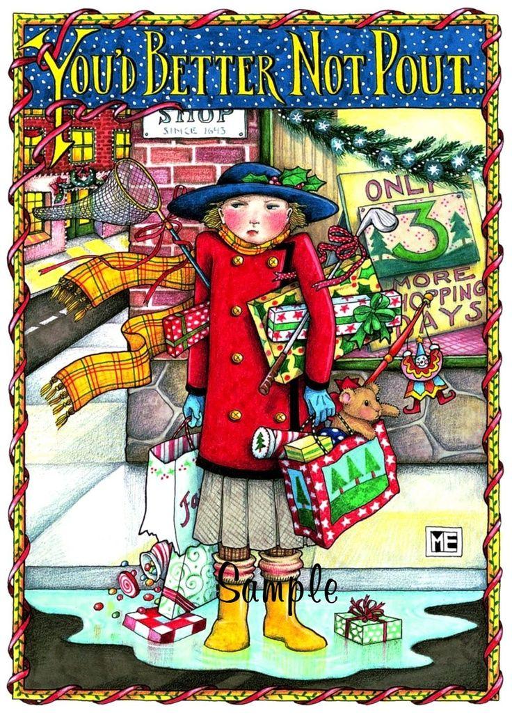 Mary Engelbreit | Licensed Mary Engelbreit Christmas Holiday Fridge ...