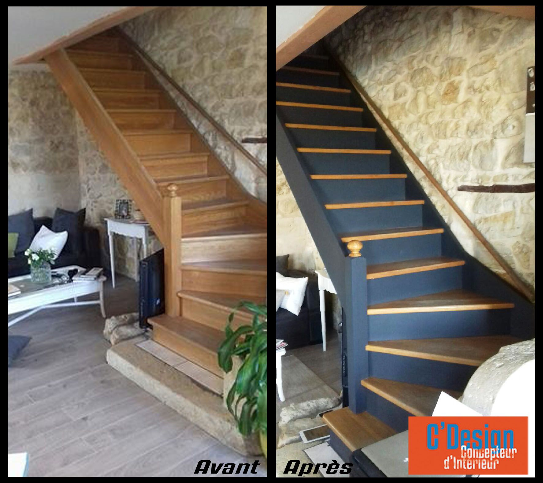 relooker son escalier great with relooker son escalier ide rnovation escalier bton with. Black Bedroom Furniture Sets. Home Design Ideas