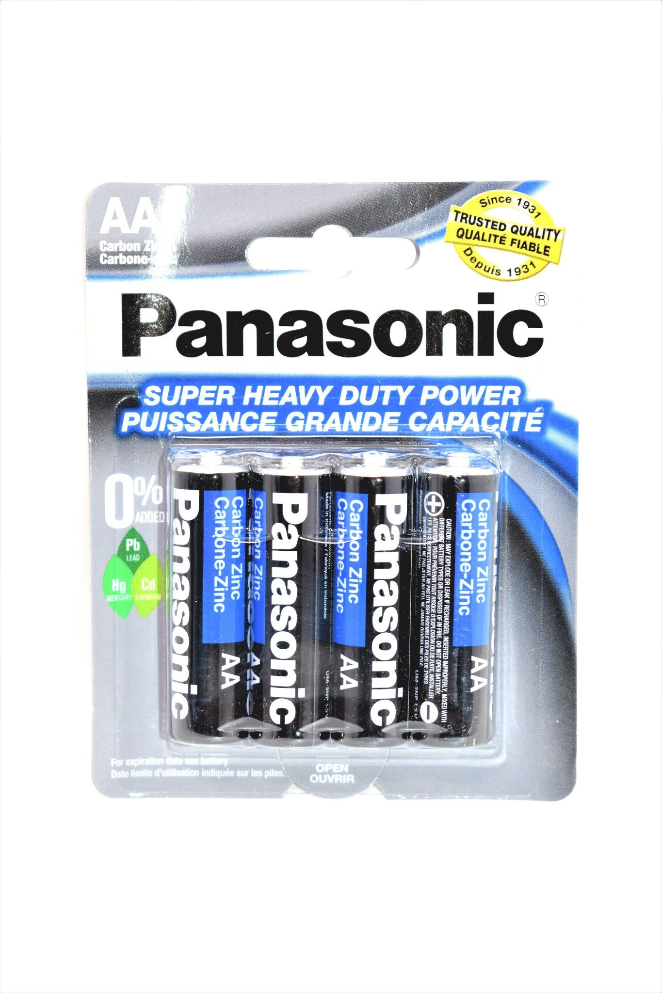 Panasonic Aa Super Heavy Duty Power Batteries 4 Ct Panasonic Heavy Duty Heavy