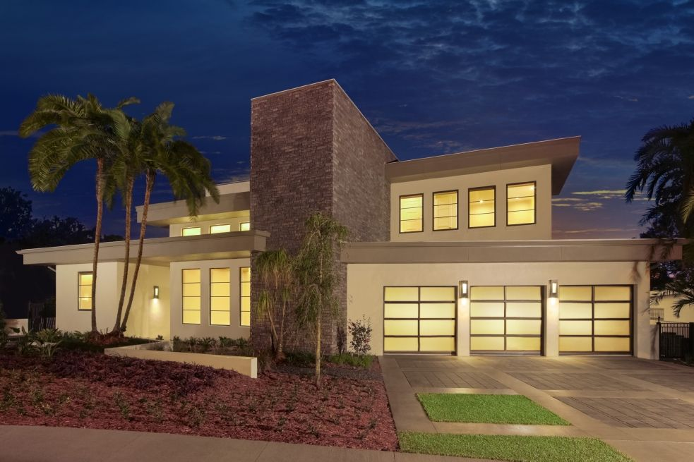 Clopay Avante Collection Glass Garage Doors Are A Focal Stunning Focal  Point On This New Contemporary
