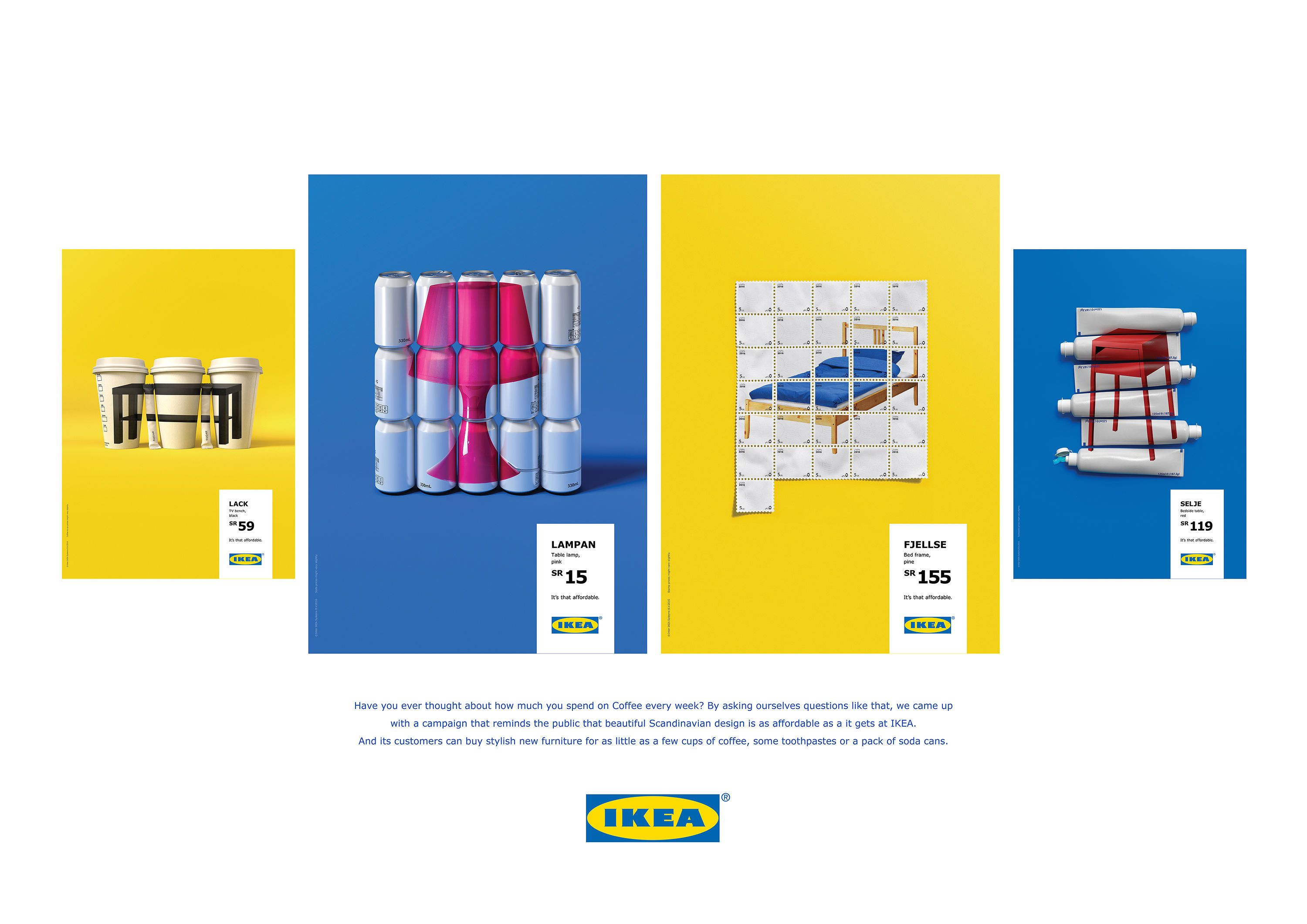 ikea it 39 s that affordable ikea furniture colourful poster advertising campaign award. Black Bedroom Furniture Sets. Home Design Ideas