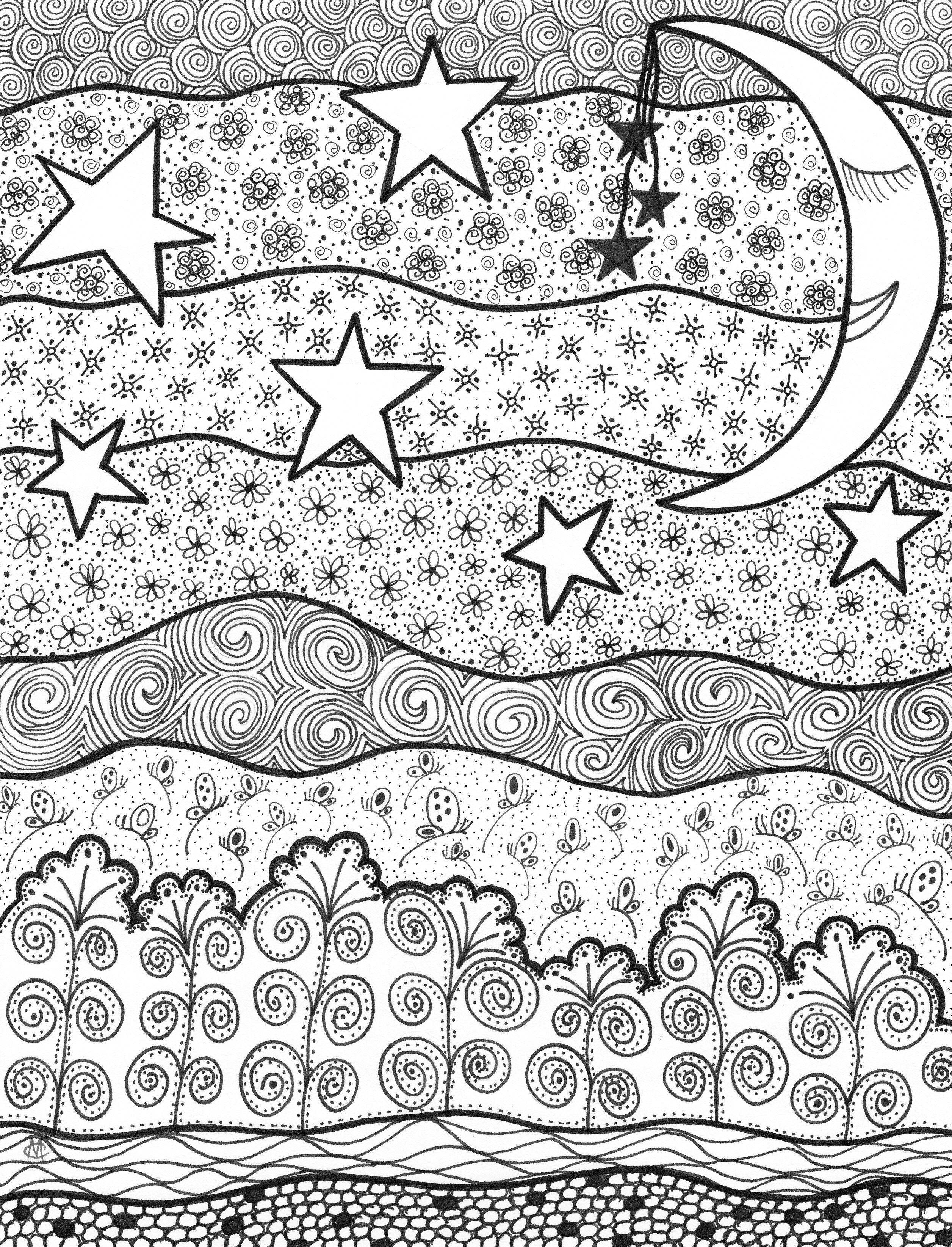 Good Night Coloring Pages Adult Coloring Pages Mandala Coloring