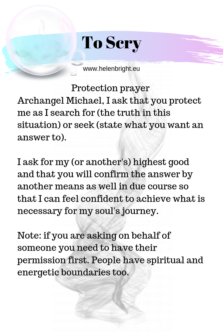 One prayer of protection tuning into Archangel Michael. I ...