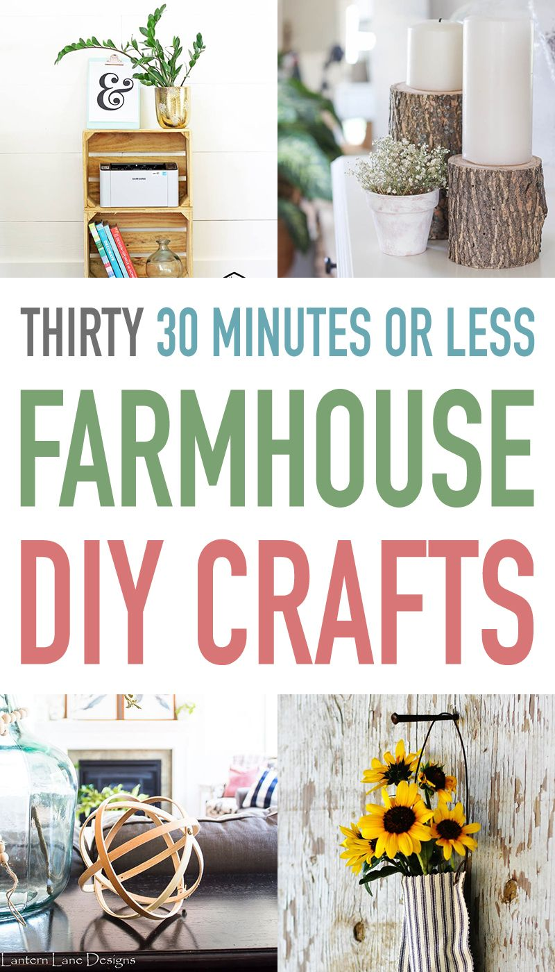 Photo of Thirty 30 Minutes or Less Farmhouse DIY Crafts – The Cottage Market
