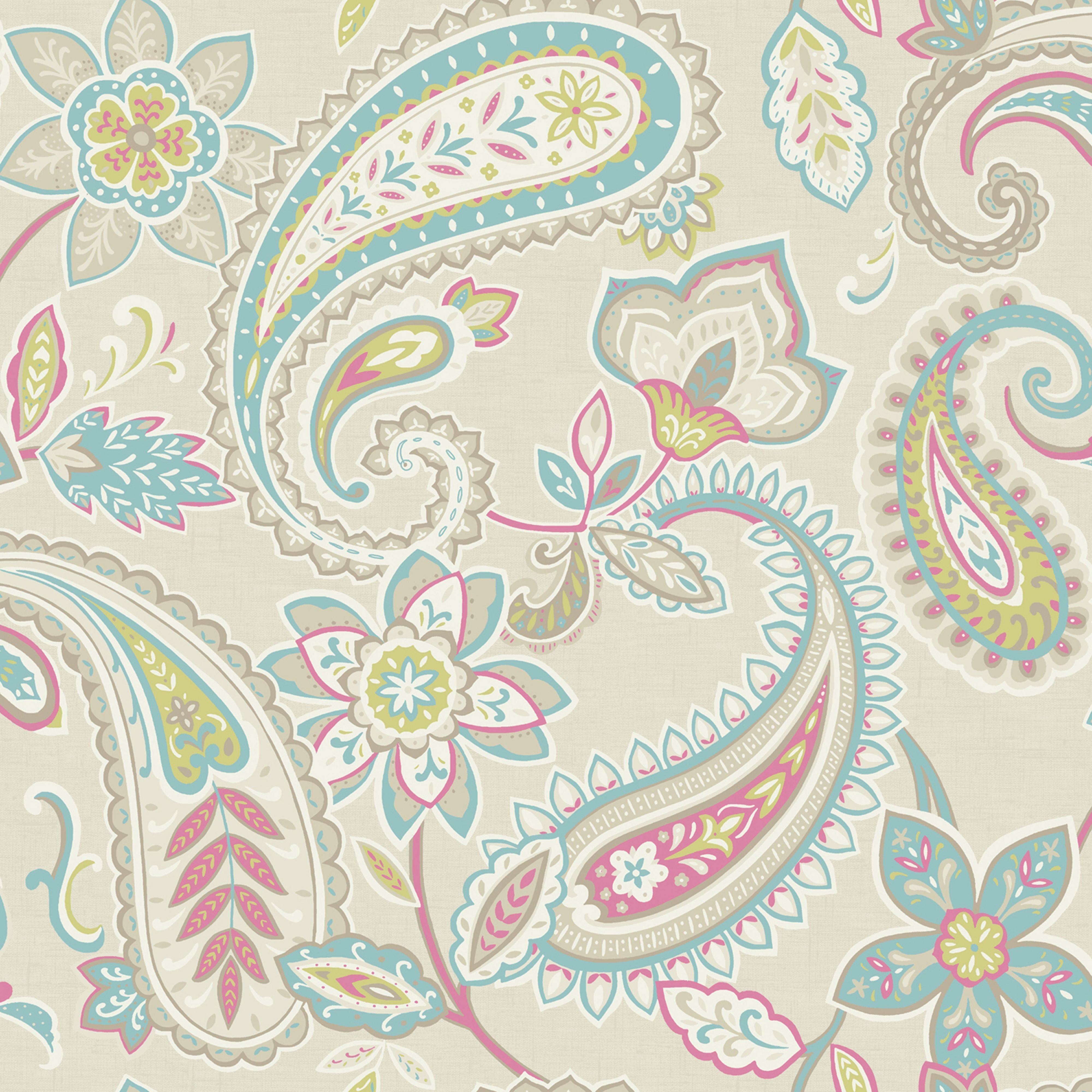 Indira Multi Paisley Wallpaper Departments Diy At B Q