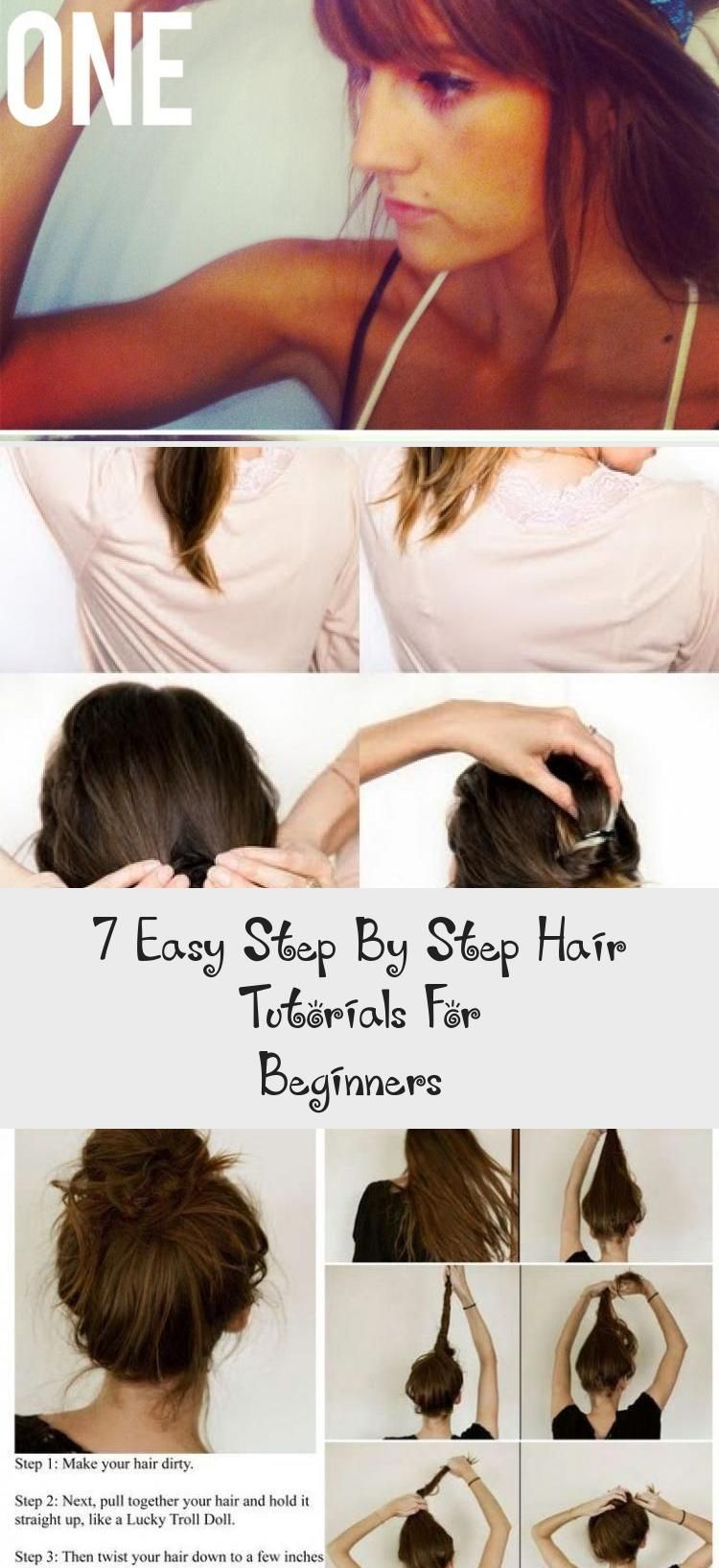 7 Easy Step By Step Hair Tutorials For Beginners Hairstyles In 2020 Hair Tutorial Cool Easy Hairstyles Ponytail Hairstyles Tutorial