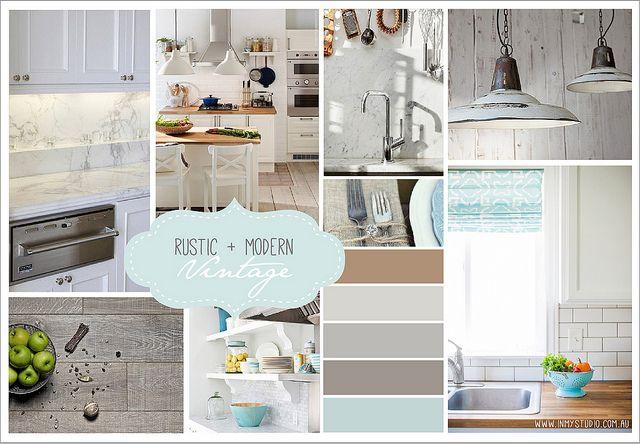 Mood Board Interior Design Decoration Kitchen Rustic Eclectic Vintage Modern Pendant