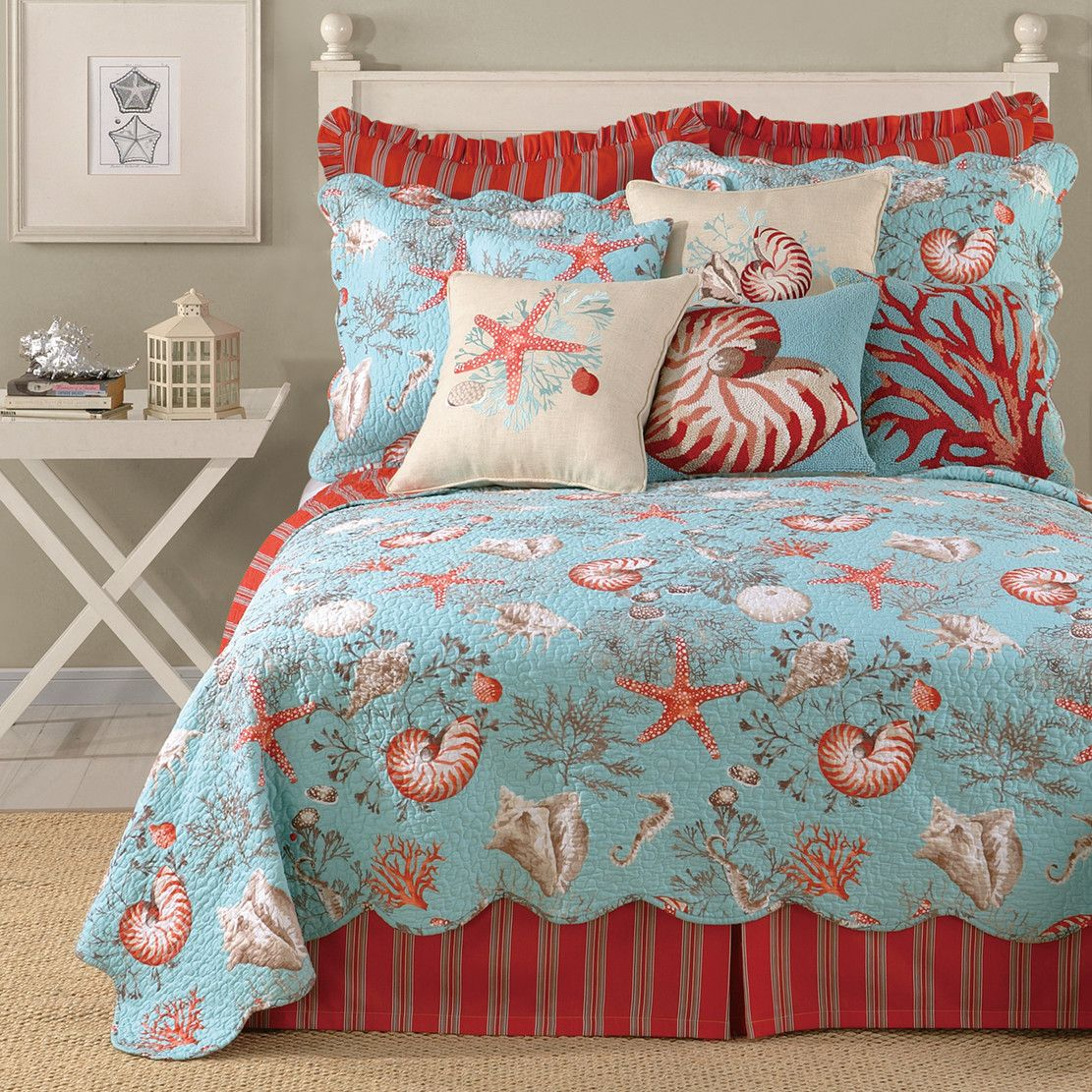 Laurel and Mayfair Sealife Quilt | Naples guest room | Pinterest | on decorating guest bedrooms on pinterest, decorating storage, redo guest bedroom, painting a guest bedroom, designing a guest bedroom, decorating kitchen, furnishing a guest bedroom, scandinavian bedroom, decorating office, decorating powder room, decorate small office in bedroom, decorating bathroom,
